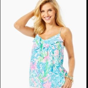 """NWT Lilly Pulitzer Karmen Cami  """"Coral Bay"""" size S"""